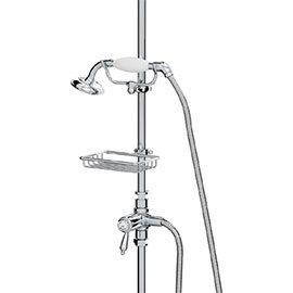 Bristan Traditional Inline Diverter, Shower Kit + Soap Basket