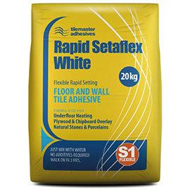 Tilemaster Adhesives - 20kg Rapid Setaflex Floor & Wall Tile Adhesive - White
