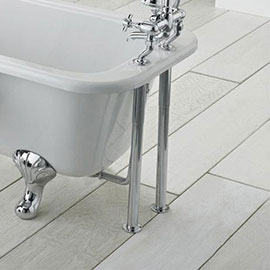 Traditional Chrome Adjustable Shrouds for Roll Top Baths