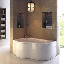 Ultra Estuary LH 4mm Acrylic Corner Bath with Panel + Legset