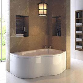 Ultra Estuary RH 4mm Acrylic Corner Bath with Panel + Legset