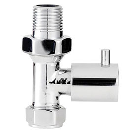 Hudson Reed Minimalist Chrome Radiator Valves - Straight - HT327