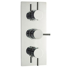 Ultra Quest Triple Concealed Thermostatic Shower Valve - Chrome - JTY314