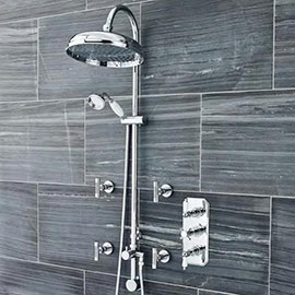 Ultra Traditional Triple Concealed Shower with Luxury Shower Kit & 4 Body Jets