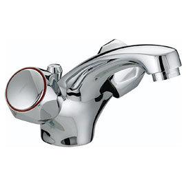 Bristan - Club Mono Basin Mixer w/ Pop Up Waste - Chrome w/ Metal Heads - VAC-BAS-C-MT