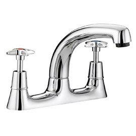 Bristan - Value Crosshead Deck Kitchen Sink Mixer - VAX-DSM-C
