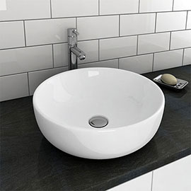 Sol Round Counter Top Basin 0TH - 405mm Diameter