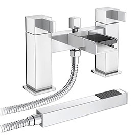 Edge Waterfall Bath Shower Mixer + Shower Kit