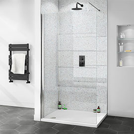 Orion White Diamond Galaxy 2400x1000x10mm PVC Shower Wall Panel