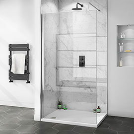 Orion White Marble 2400x1000x10mm PVC Shower Wall Panel