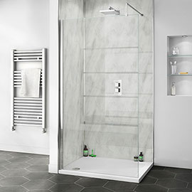 Orion Grey Marble 2400x1000x10mm PVC Shower Wall Panel