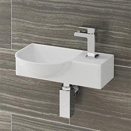 Valencia 400mm Mini Wall Hung Bathroom Basin