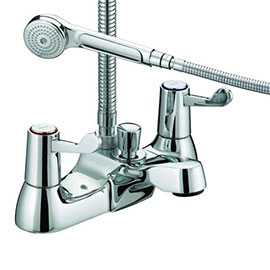 Bristan - Value Lever Bath Shower Mixer - Chrome Plated w/ Ceramic Disc Valves - VAL-BSM-C-CD