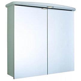 Croydex - Thames Double-Door Illuminated Mirror Cabinet - White MDF - WC146122E