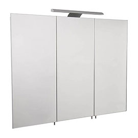 Croydex Hampton Hang N Lock Triple Door Illuminated Mirror Cabinet with Shaver Socket 700 x 900mm - WC147469E