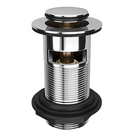 Small Cap Slotted Click Clack Basin Waste - Chrome