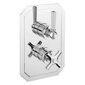 Crosswater - Waldorf Art Deco White Lever Thermostatic Shower Valve - WF1000RC_LV+