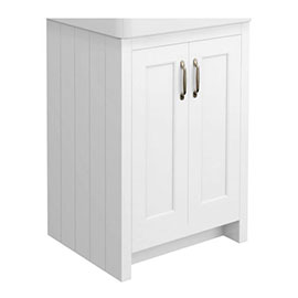 Chatsworth 560mm White Vanity Cabinet (excluding Basin)