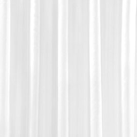 White W2400 x H2000mm Polyester Shower Curtain