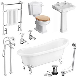 Winchester Traditional Complete Roll Top Bathroom Package (1710mm)