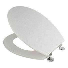 Croydex Flexi-Fix White Quartz Effect Anti-Bacterial Toilet Seat - WL601822H