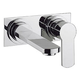 Crosswater - Wisp Wall Mounted 2 Hole Set Basin Mixer with Back Plate - WP121WNC