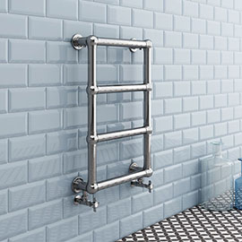Chatsworth Traditional 748 x 498mm Chrome Heated Towel Rail