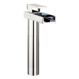 Crosswater - Water Square Tall Monobloc Basin Mixer Tap - WS112DNC