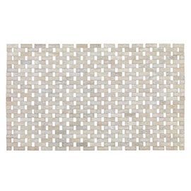 Wenko Bamboo 50 x 80cm Bath Mat - White - 22106100