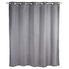Wenko Comfort Flex Grey Polyester Shower Curtain - W1800 x H2000mm