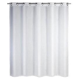 Wenko Comfort Flex White Polyester Shower Curtain - W1800 x H2000mm