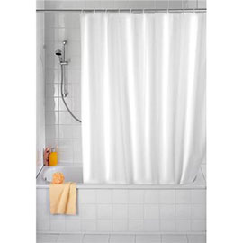 Wenko - Plain White Anti-Mold Polyester Shower Curtain - W1800 x H2000mm - 20151100
