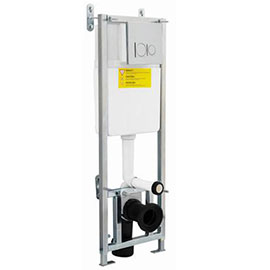 Hudson Reed - Dual Flush Concealed WC Cistern with Wall Hung Frame - XTY015