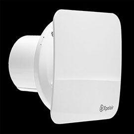 """Xpelair C4PS Simply Silent 4"""" Square Bathroom Extractor Fan with Pullcord"""