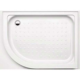 Coram RH Offset Quad 1200 x 800mm Shower Tray with Upstands & Waste - YDQ128RWHI