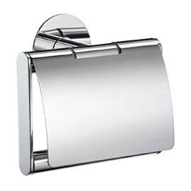 Smedbo Time Toilet Roll Holder with Lid - Polished Chrome - YK3414