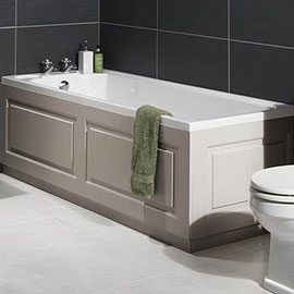 York 1700 x 700 Single Ended Bath Inc. Grey Panels