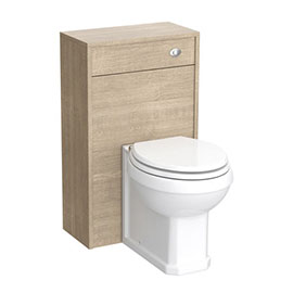 York Traditional Wood Finish BTW WC Unit with Pan & Top-Fixing Seat