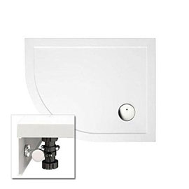 Zamori - 35mm Offset Quadrant Shower Tray with Leg & Panel Set - Left Hand - Various Size Options