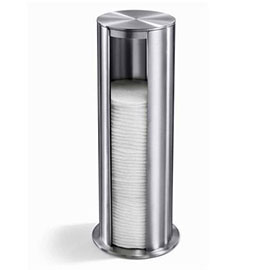 Zack Yara Freestanding Cotton Pad Dispenser - Stainless Steel - 40408