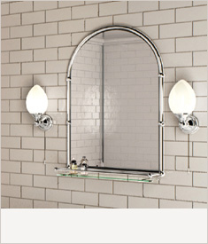 Burlington bathrooms huge range next day delivery - Traditional bathroom mirror with lights ...