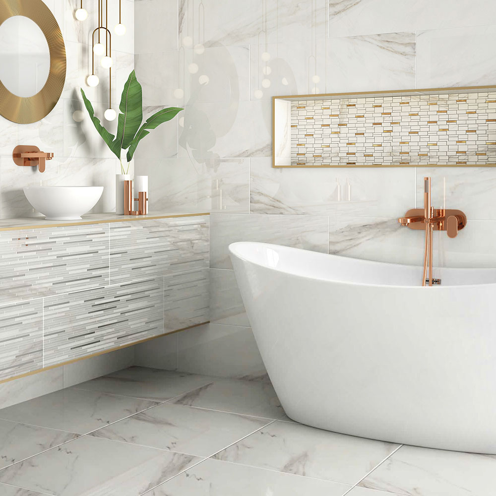 Luxury Marble Effect Wall & Floor Tiles