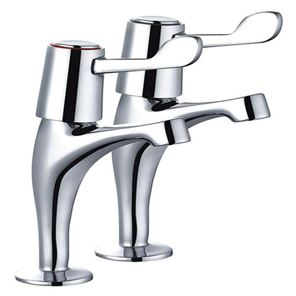 Mayfair Alpha High Neck Lever Pillar Taps - KIT129 profile large image view 1