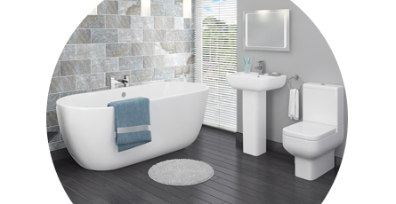 modern bathroom suites banner