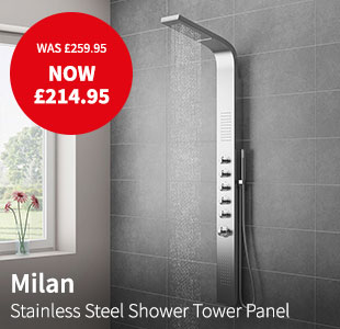 Milan Stainless Steel Tower Shower