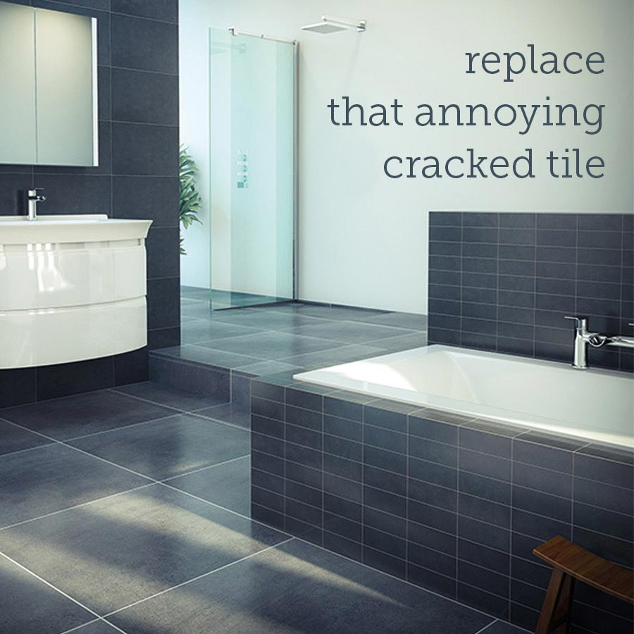 Read our guide: Fixing a cracked bathroom tile