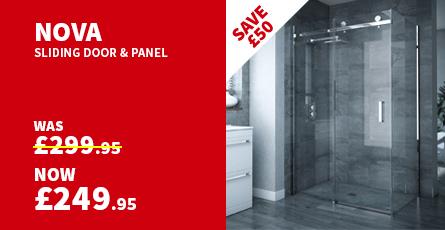 Nova Frameless 800 x 1200mm Sliding Door & Panel - D004