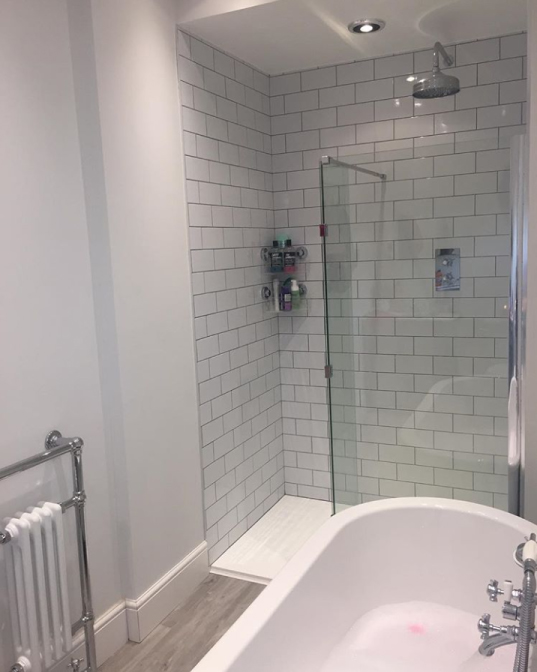 Traditional floor mounted heated towel rail | Rachel's Victorian Bathroom - Worcestershire