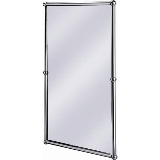 burlington rectangular mirror with shelf in chrome frame a12 chr at victorian plumbing uk