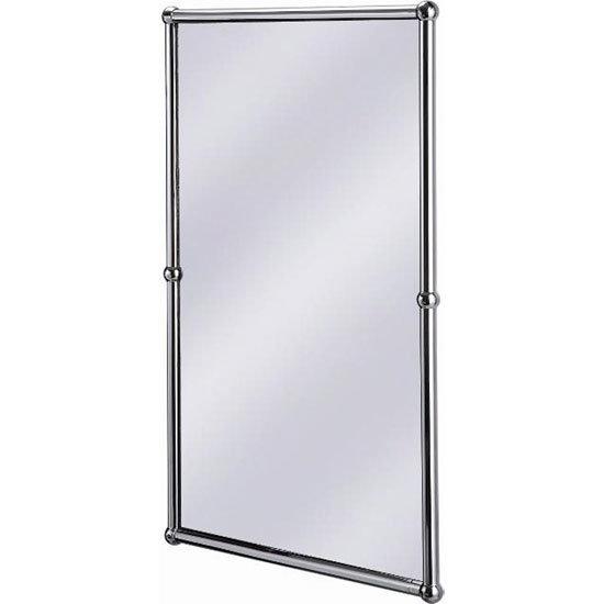 burlington rectangular mirror with shelf in chrome frame a12 chr at victorian plumbing uk
